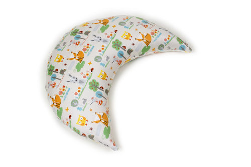 XL Travel nursing pillow spelt with satin cover animals